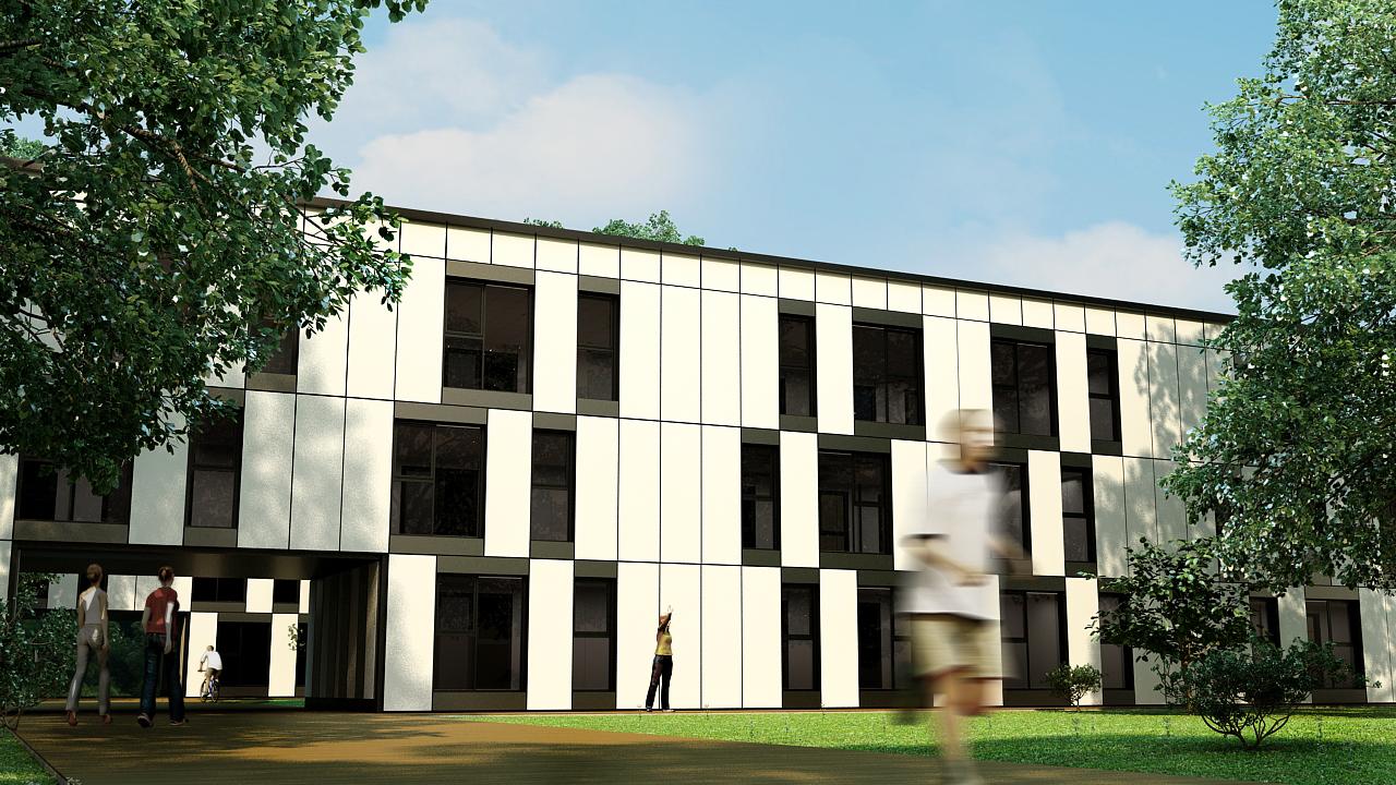 Apartment Block Facade 02