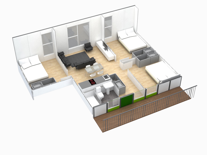Apartamentos Modulares Diseño