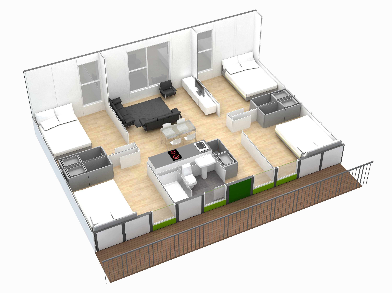 Apartamentos Modulares Cidark