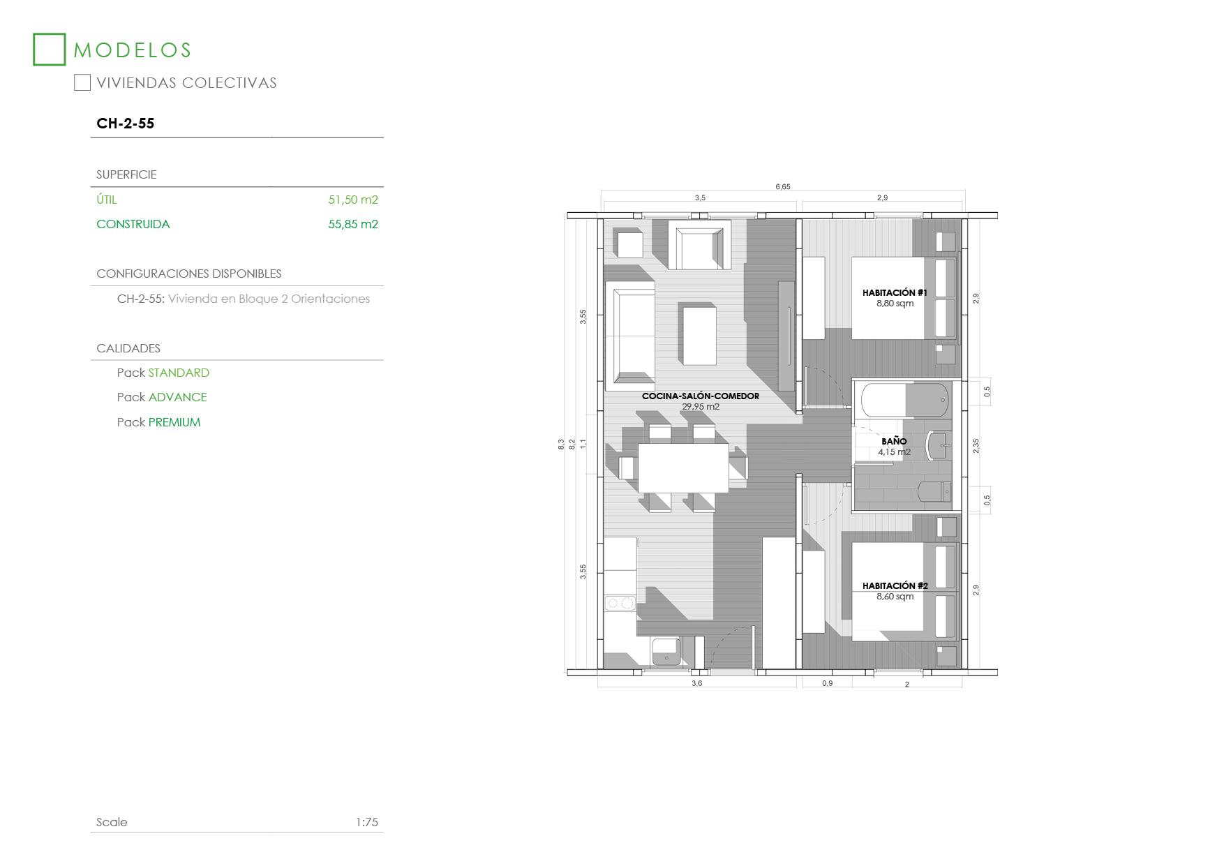 Apartamentos Modulares