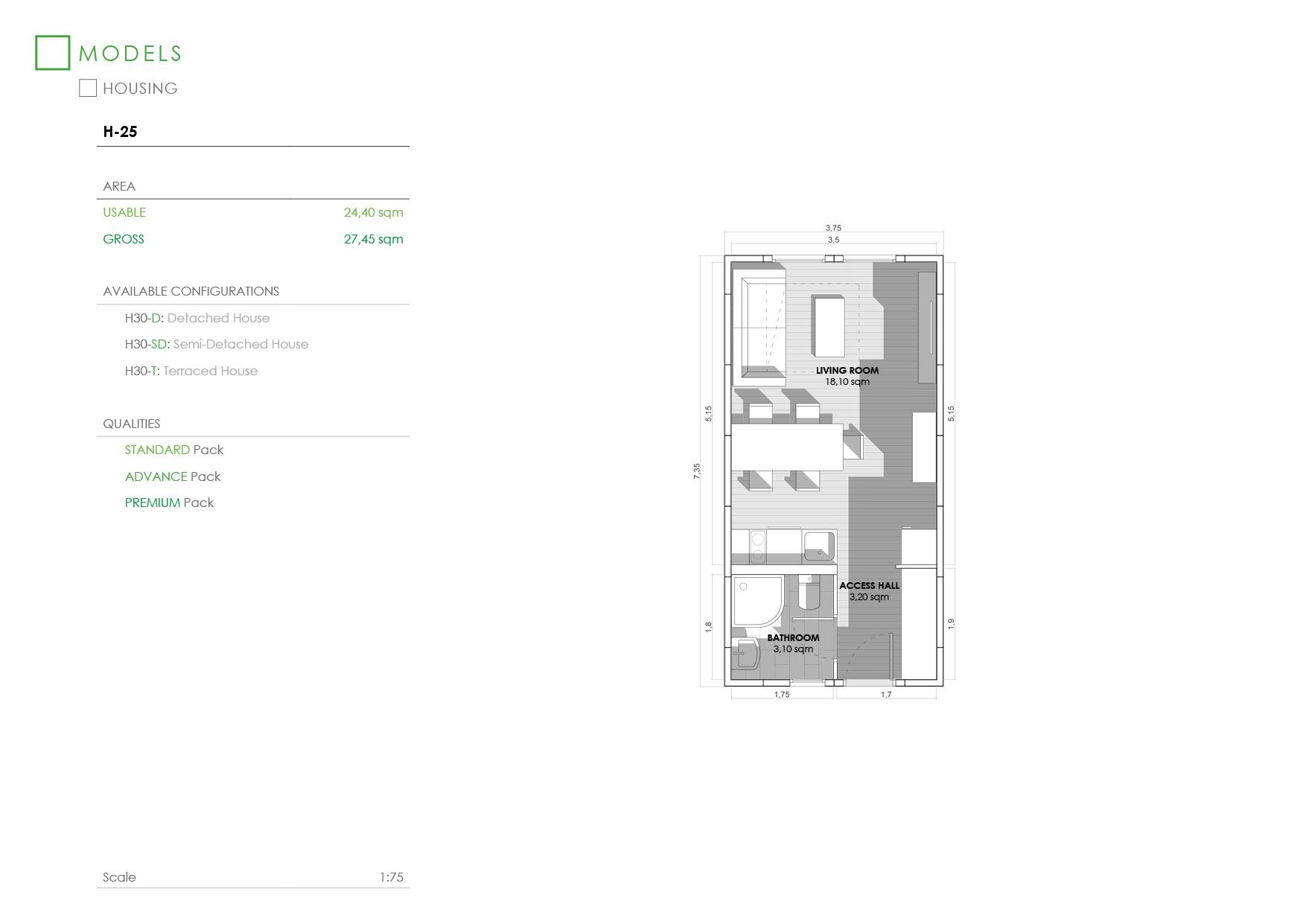 Prefabricated House H-25-D