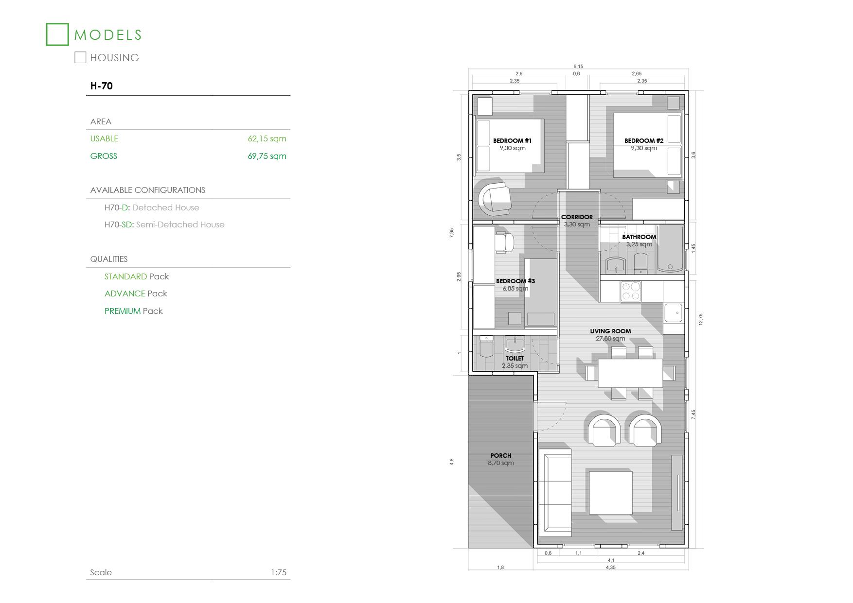 Prefabricated House H-70